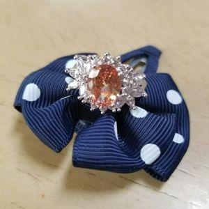 18k Swarovski oval flower ring